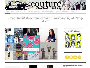 Featured on Couture Troopers.com (http://couturetroopers.com/2015/01/01/department-store-reinvented-at-workshop-by-mcnally-co/)